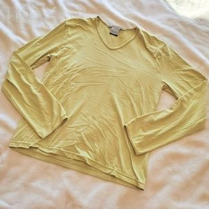 Nike Yellow Green Seamless Dri Fit Long Sleeve